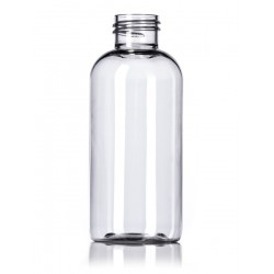 4 oz Clear PET Boston Round Bottle - 500/case ($0.25 each, discounts for high volume orders)