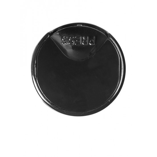 20-410 Black Smooth Disc Cap with PS Liner - 400/bag ($0.195 each, discounts for high order volumes)