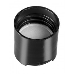 20-410 Black Smooth Disc Cap with PS Liner - 250/bag ($0.20 each, discounts for high order volumes)