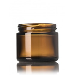 2oz Amber Glass Jar - 42 jars/tray ($0.62 each, discounts for case quantities)