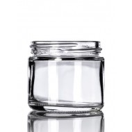 2oz Clear Glass Jar - 42 jars/tray ($0.63 each, discounts for case quantities)