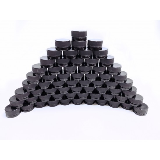 9cc Black Glass Jar with Child Resistant Cap - 64 jars/tray (84¢ each, discounts for case quantities)