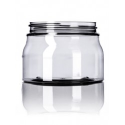 16 oz Clear PET Tuscany Jar - 160/case ($0.75 each, discounts for high volume orders)