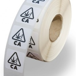 """0.75""""x0.75"""" CA Warning Labels (Roll of 1000 Labels) - Test"""