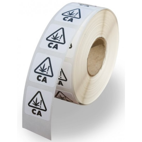 """0.75""""x0.75"""" CA Warning Labels (Roll of 1000 Labels)"""