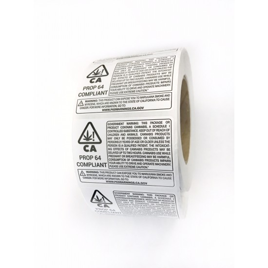 California Warning Labels (1000 labels/roll)