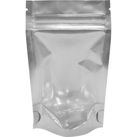 """4""""x6""""x2.5"""" Silver/Clear Stand Up Pouches"""